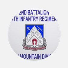 Army-87th-Infantry-Reg-Shirt-2.gif Round Ornament