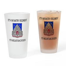 Army-87th-Infantry-Reg-Messenger.gi Drinking Glass