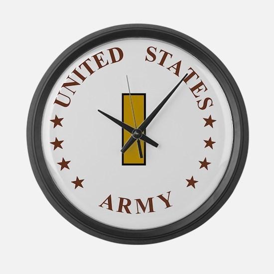 Army-2Lt-Desert.gif Large Wall Clock