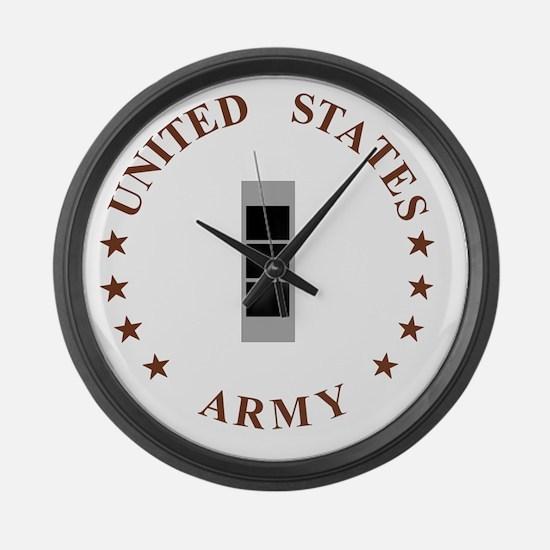 Army-CWO3-Desert.gif Large Wall Clock