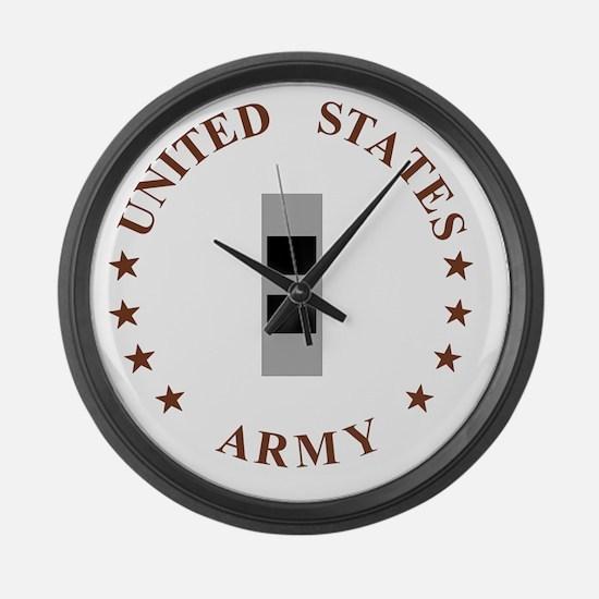 Army-CWO2-Desert.gif Large Wall Clock