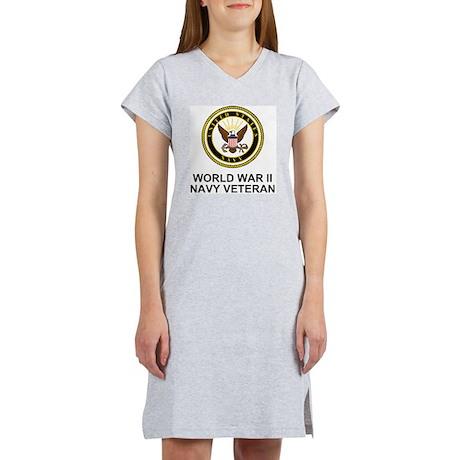 Navy-WWII-Veteran-Black.gif Women's Nightshirt