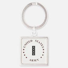 Army-CWO5-Desert.gif Square Keychain