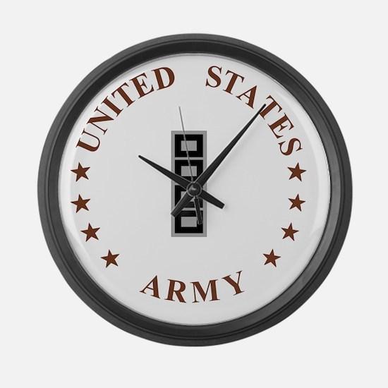 Army-CWO5-Desert.gif Large Wall Clock