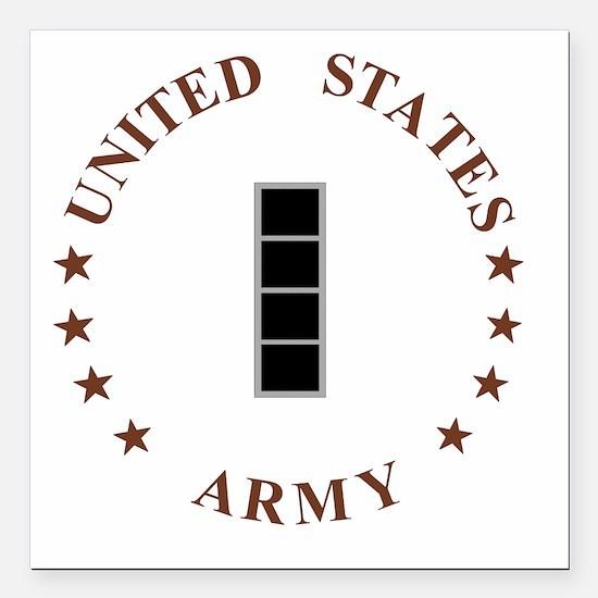 "Army-CWO4-Desert.gif Square Car Magnet 3"" x 3"""