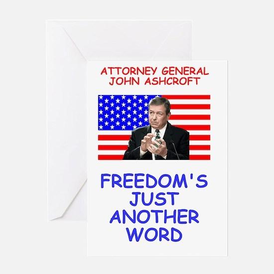 Bush-Ashcroft-Freedom-Poster.gif Greeting Card