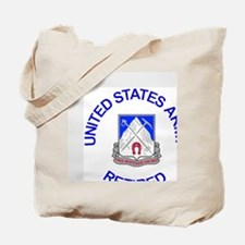 Army-87th-Infantry-Reg-Retired-Button.gif Tote Bag