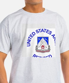 Army-87th-Infantry-Reg-Retired-Butto T-Shirt