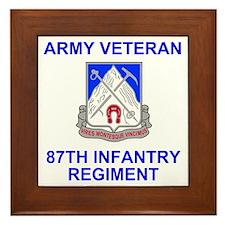 Army-87th-Infantry-Reg-Veteran-Shirt.g Framed Tile