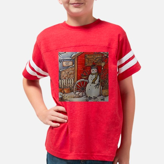 Snowman Scene Youth Football Shirt