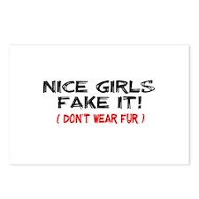 Nice Girls fake it! Postcards (Package of 8)