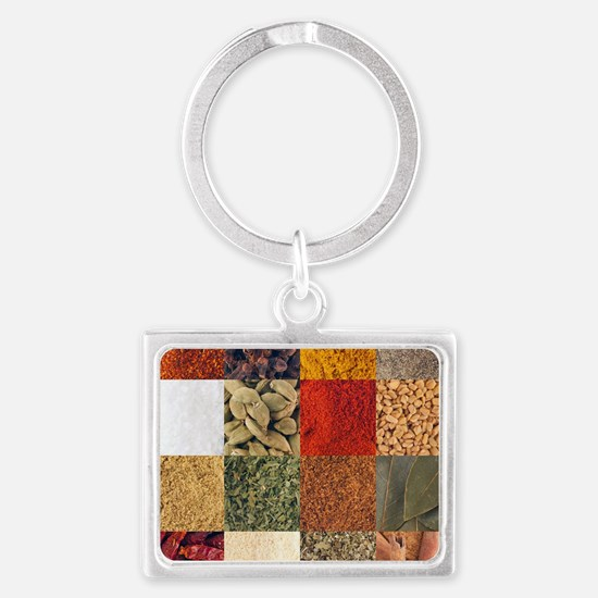 Spices Landscape Keychain