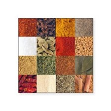 "Spices Square Sticker 3"" x 3"""