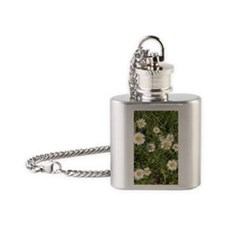 Hey I Heard You Were a Wild Flower Flask Necklace