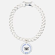 Army-Colonel-Blue.gif Charm Bracelet, One Charm