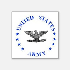 "Army-Colonel-Blue.gif Square Sticker 3"" x 3"""