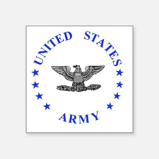 """Army-Colonel-Blue.gif Square Sticker 3"""" x 3"""""""