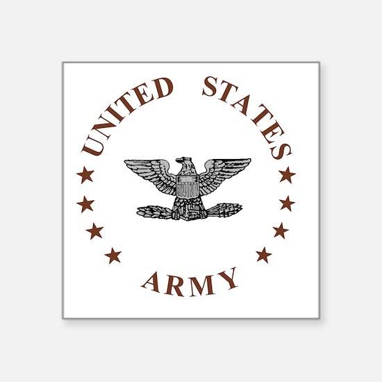 """Army-Colonel-Brown.gif Square Sticker 3"""" x 3"""""""