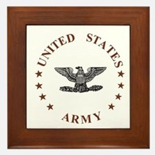 Army-Colonel-Brown.gif Framed Tile