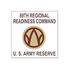 "USAR-89th-RRC-Shirt5-Bonnie Square Sticker 3"" x 3"""