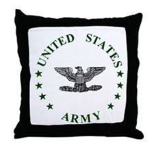 Army-Colonel-Green.gif Throw Pillow