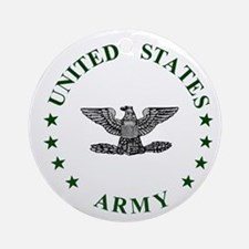 Army-Colonel-Green.gif Round Ornament