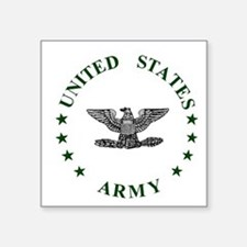 "Army-Colonel-Green.gif Square Sticker 3"" x 3"""