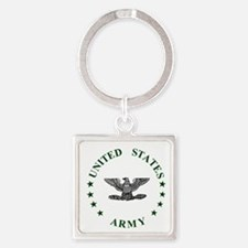 Army-Colonel-Green.gif Square Keychain
