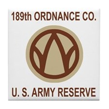USAR-189th-Ordnance-Co-Shirt-Khaki.gi Tile Coaster