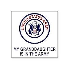 "Army-My-Granddaughter.gif Square Sticker 3"" x 3"""