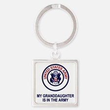 Army-My-Granddaughter.gif Square Keychain