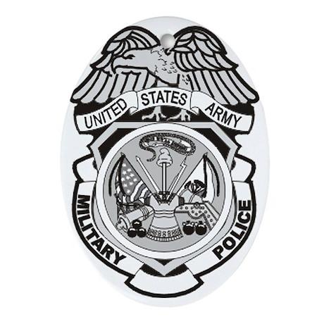 Army-MP-Badge-Dennis.gif Oval Ornament