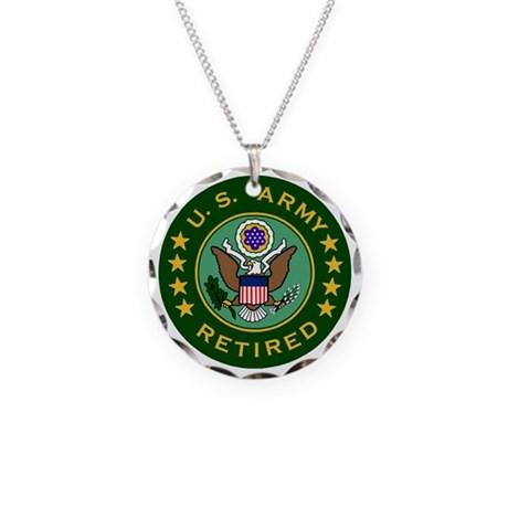 Army-Retired-For-Stripes.gif Necklace Circle Charm
