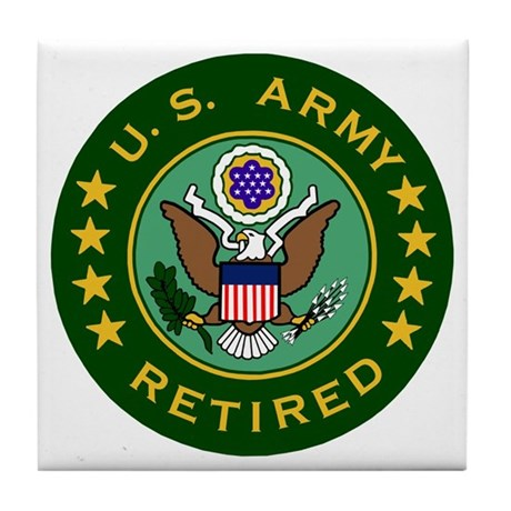 Army-Retired-For-Stripes.gif Tile Coaster