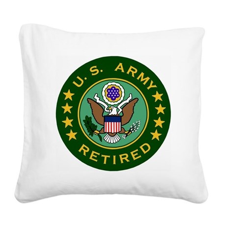 Army-Retired-For-Stripes.gif Square Canvas Pillow