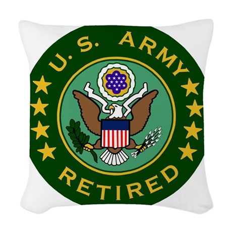 Army-Retired-For-Stripes.gif Woven Throw Pillow
