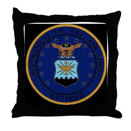 USAF-Retired-Seal-Bonnie.gif Throw Pillow