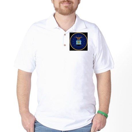 USAF-Retired-Seal-Bonnie.gif Golf Shirt