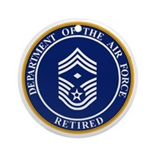 USAF-Retired-E9-First-Sergeant.gif Round Ornament