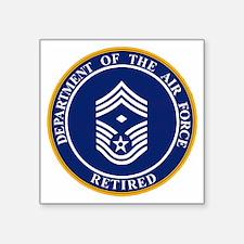 """USAF-Retired-E9-First-Serge Square Sticker 3"""" x 3"""""""