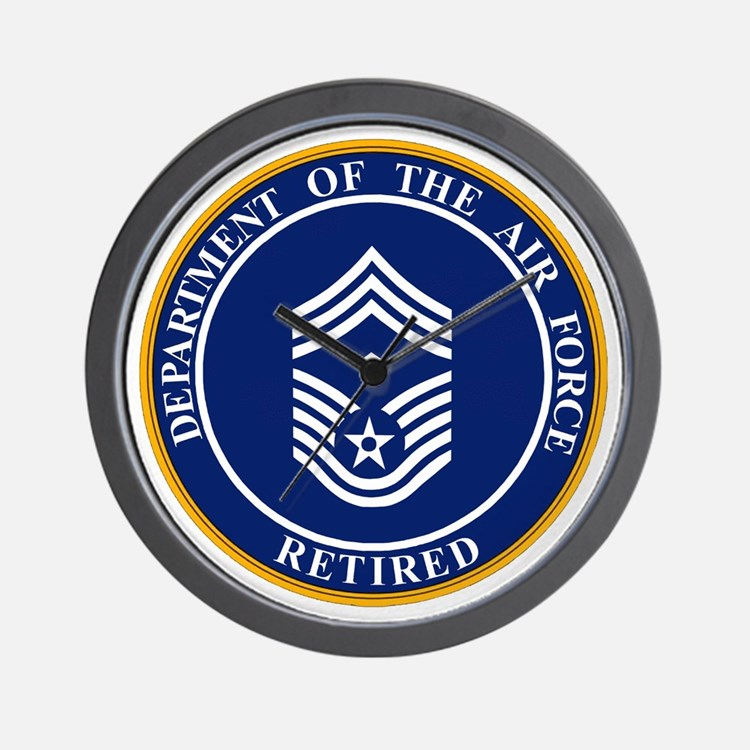 USAF-Retired-E9-First-Sergeant.gif Wall Clock