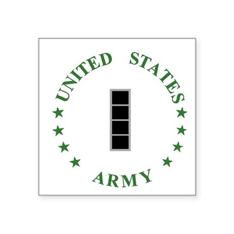 "Army-CWO4-MP-Green.gif Square Sticker 3"" x 3"""