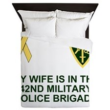 Army-42nd-MP-Bde-My-Wife.gif Queen Duvet