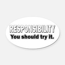 Responsibility Oval Car Magnet
