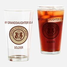 Army-My-Grandaughter-Khaki.gif Drinking Glass