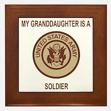 Army-My-Grandaughter-Khaki.gif Framed Tile