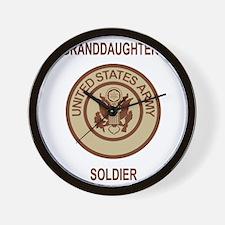 Army-My-Grandaughter-Khaki.gif Wall Clock