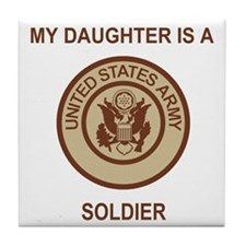 Army-My-Daughter-Khaki.gif Tile Coaster