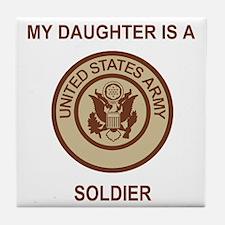 Army-My-Daughter-Khaki.gif Tile Coaster