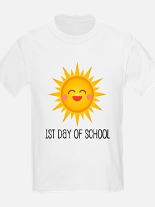1st Day Of School sun T-Shirt